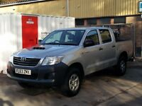 Toyota HiLux HL2 Double cab 63 plate 76k