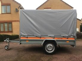750 Kg Non braked Single Axle Car Trailer With Canopy