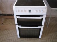 BEKO CERAMIC DOUBLE OVEN IN WHITE