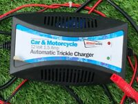 £4. 12 volt, 1.5 amp trickle charger.