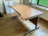 Large beech office desk