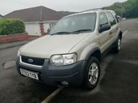 Ford Maverick 4x4 Automatic low mileage 67k 2 owners in 10 years, drives well very clean new tyres