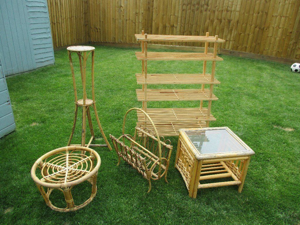 Job lot of cane furniture items - Ideal projects