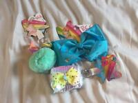 Jojo large bow purse and pom pom bundle all new green blue