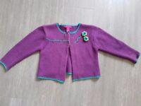 Girls Purple Cardi age 3- 4 years