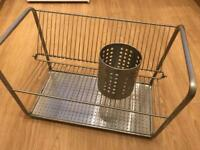 Dish and cutlery drying rack