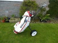 Ladies Clubs and Golf trolley