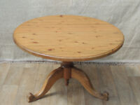 Welsh Pine round and chunky Country table (Delivery)
