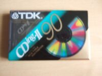 LOT 4 - THREE NEW TDK CDing - II 90 AUDIO CASSETTE TAPES – see description