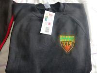 Cramlington Learning Village School Sweat shirt (used in year 9 onwards) Brand New size 38-40in