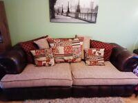 3-seater & 4-seater leather/fabric sofa