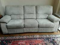 Sofa 3 seater manual recliner