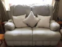 2 seater and 1 chair both recline