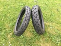 Metzeler Tourance Motorcycle Tyres 130 80 R 17 and 100 90 19 for BMW Etc Barely Used