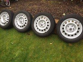 "Genuine Mini Countryman 16"" steel wheels and winter tyres"