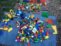 Large collection of duplo lego