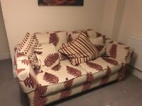 One 3 seater sofa, one 2 seater sofa, plus a foot stall!