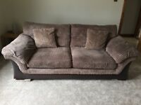 DFS 3 seater sofa and storage foot stool