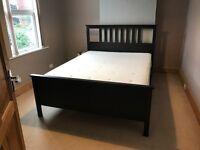 Ikea Hemes King Size bed frame, Ikea Hyllestad King Size mattress and Ikea Leirsund slates