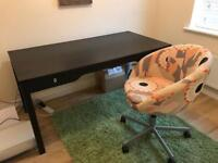 Ikea office desk and tub chair