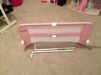 Bed guard for single bed/cot bed.
