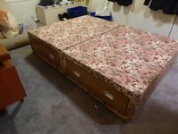 FREE Double divan bed with four drawers