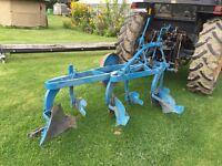 Ransom 3 furrow plough, Good Condition, £250