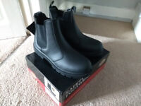 new dickies steel road cap boots size 7