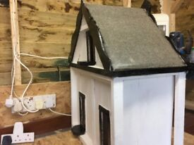Delightful hand made cottage style bird table and nesting boxes