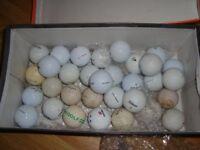 MIXED WHITE GOLF BALLS 30 + BRAND NAMES