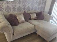 NEXT grey corner sofa with arm chair