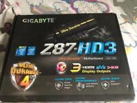Gigabyte Z87-HD3 Mobo, i5-4670k CPU, 16gb g.skill RAM