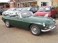1967 MGB Mk1 in British Racing Green, Good Condition, 12 Month MOT