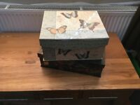 X2 Patterned Storage Boxes