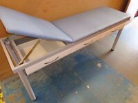 Therapy / Beauty / Medical/ Massage RECLINING TABLE -- VGC -- (St Barnabas Hospice Charity Sale)