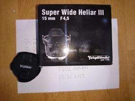 VOIGTLANDER SUPER WIDE HELIAR 15mm ASPH III