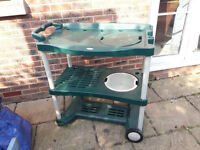 Plastic Potting Bench / Workbench with Sinks on Wheels