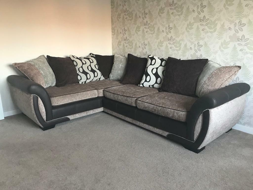 Corner Sofa Swivel Chair And Footrest Dfs In Mansfield