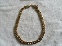 Gold plated Square cuban link curb chain necklace - Brand New