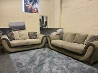 DFS LIGHT BEIGE FABRIC SOFA SET IN EXCELLENT CONDITION 3+2 seater