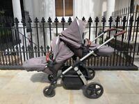 Silver Cross Wave Twin Pram / Double Pushchair (Original Price £1,400)