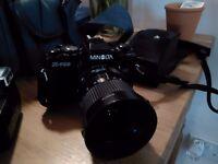 Minolta X700 35mm Camera with accessories