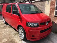 "VW Transporter Custom, No VATm 20"" alloys, SatNav, 2.5 174BHP LWB Facelift"