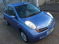 Nissan Micra 2004, with 1 year mot, drives very good, AC, hatchback, automatic, 1.2 petrol