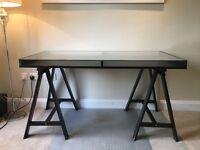 Ikea Glass Top Trestle Desk