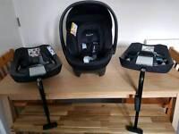 Cybex Aton Car Seat with 2 Isofixs