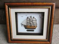 Unusual 3D Box Picture of the Mayflower Ship