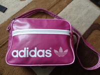 Adidas Pink Vintage Retro originals messenger Bag