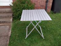 camping aluminium table