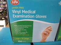 new vinal large medical gloves 100 per box,expire close to 2016.